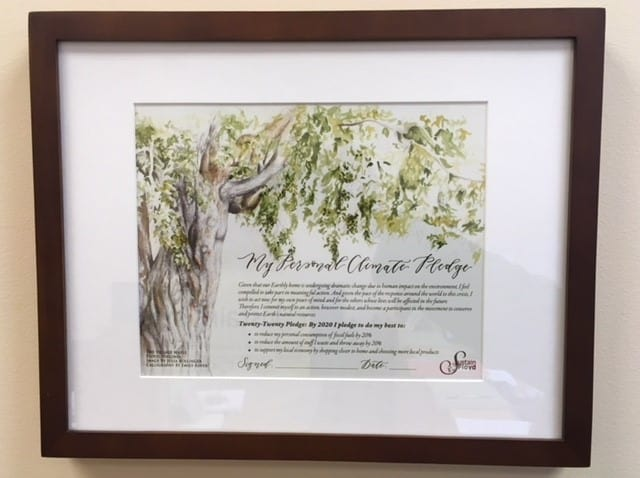Personal Climate Pledge Framed Image