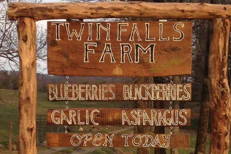 Twin Fall Farm Sign
