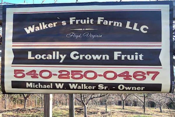 Walkers Fruit Farm Sign
