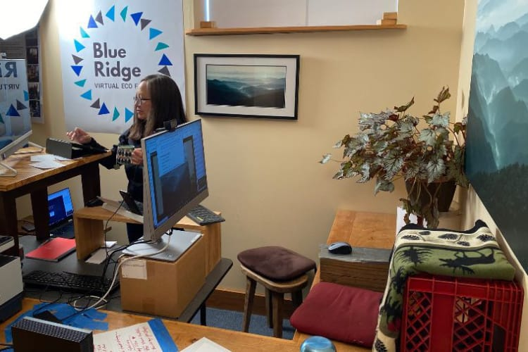 Blue Ridge Eco Fair Mission Control at SustainFloyd Office